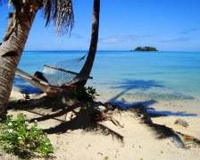 Rilassandosi su un'amaca del Walu Beach Resort - Mamanuca - Fiji