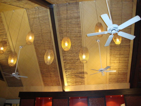 Soffitto del bar di Dick's Place, Musket cove Resort, Mamanuca
