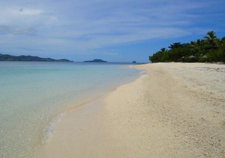 La spiaggia sud di Navini Island Resort