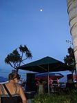 Tony Painting live al tramonto a Port Denarau
