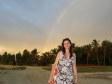 Anna sotto un arcobaleno a Malolo Lailai