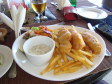 Fish and chips al Musket Cove Resort, Mamanuca