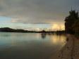 La spiaggia di Musket Cove Resort al tramonto