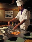 Una Teppanyaki chef al Daikoku