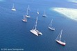 Yachts davanti a Musket Cove su Malolo Lailai
