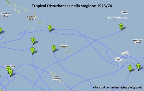 Perturbazioni Tropicali nella stagion 1973/74 (La Nina)